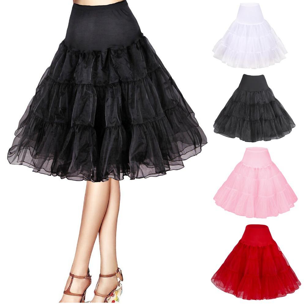 free shipping short organza crinoline petticoat tutu rock ...