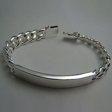 Wholesale Silver Plated Fashion Bracelet Bangle Jewelry Trendy Men 10mm Bracelets Best Gift Free shipping Pulseras
