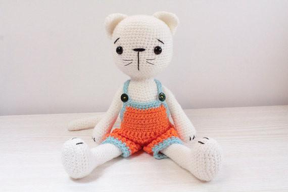 PATTERN Amigurumi Cat - Crochet Toy Pattern   Crochet toys ...   380x570