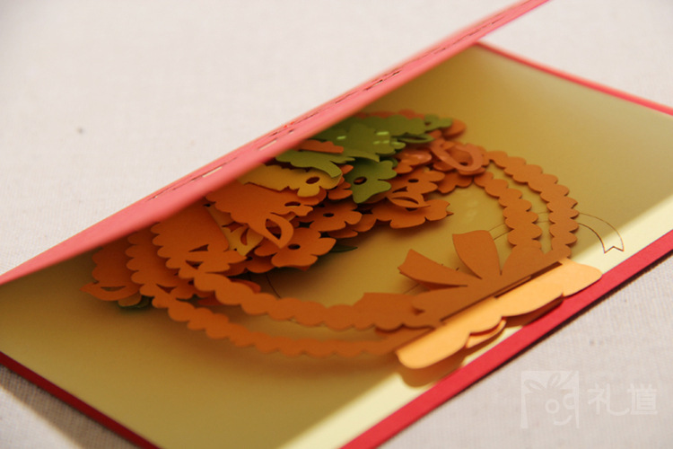 acheter bricolage carte de voeux kirigami origami 3d pop up cartes de voeux. Black Bedroom Furniture Sets. Home Design Ideas