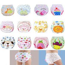 12 tipos de estilos bebê à prova d ' água reutilizáveis fraldas de algodão / crianças fralda de pano / calças de treinamento / capa de tecido lavável # 7