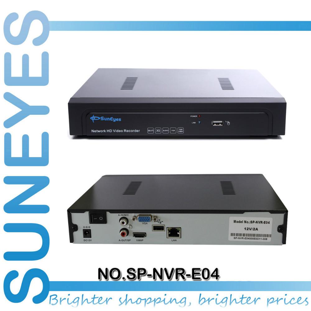 SunEyes 4ch/8ch NVR Network HD Video Recorder 720P/1080P Support  ONVIF 1080P HDMI Output 1U SP-NVR-E04/SP-NVR-E08