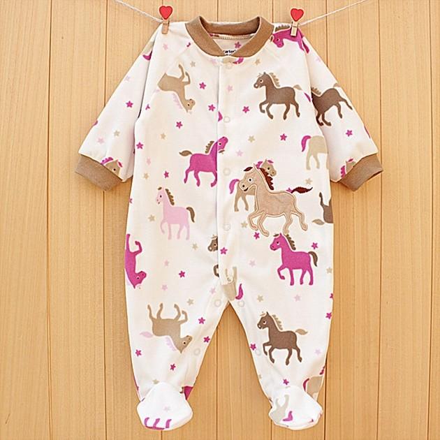 Baby romper infant sleepwear newborn winter clothes baby outerwear Fleece soccer