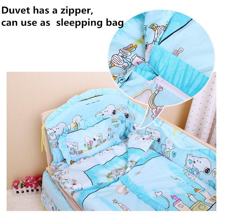 Promotion 10PCS bedding baby cradle crib bedding baby comforter crib set unpick bumpers matress pillow duvet