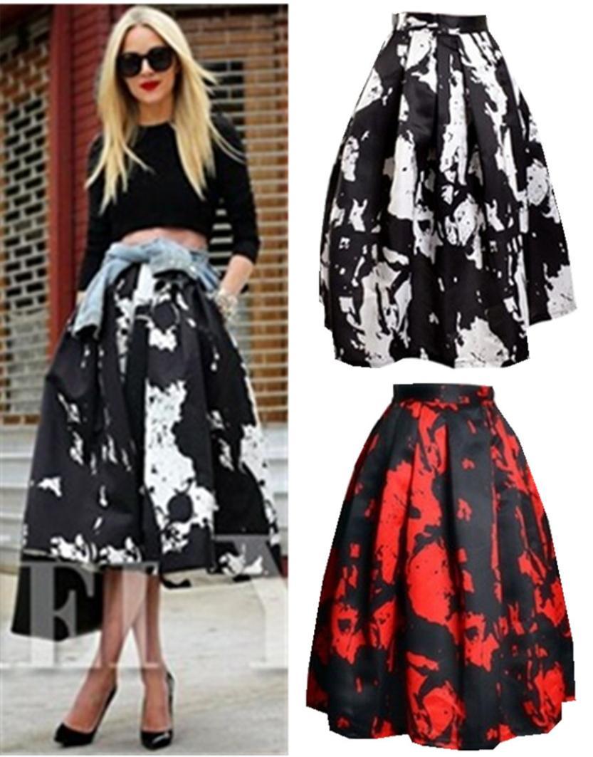 4563f2c04 High Waist Full Midi Skirt