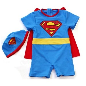 Retail 2016 Superman Anime Kids Boy Swimwear Cartoon Superman