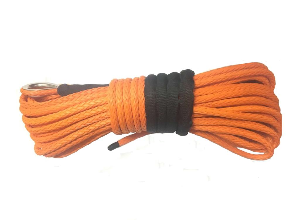 Бесплатная доставка 14 мм x 30 м оранжевый синтетического свмпэ лебедки с оболочкой для 4wd utv atv 4 x 4 offroad завод прямых продаж