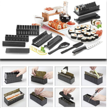 11 Pack New DIY Easy Sushi Maker Machine Kit Rice Roller Mold Roller Cutter Kitchen Cooking Tools Set