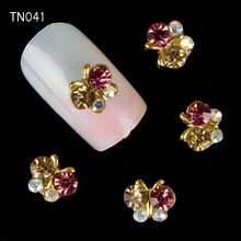 10pc Glitter Butterfly Rhinestones 3d Nail Art Decorations Alloy Nail Stcikers Charms Jewelry for Nail Gel