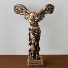 Статуя богини древней греческой победы, европейские украшения из смолы, скульптура персонажа, ремесла, украшение для дома, офиса, рабочего с...(Китай)