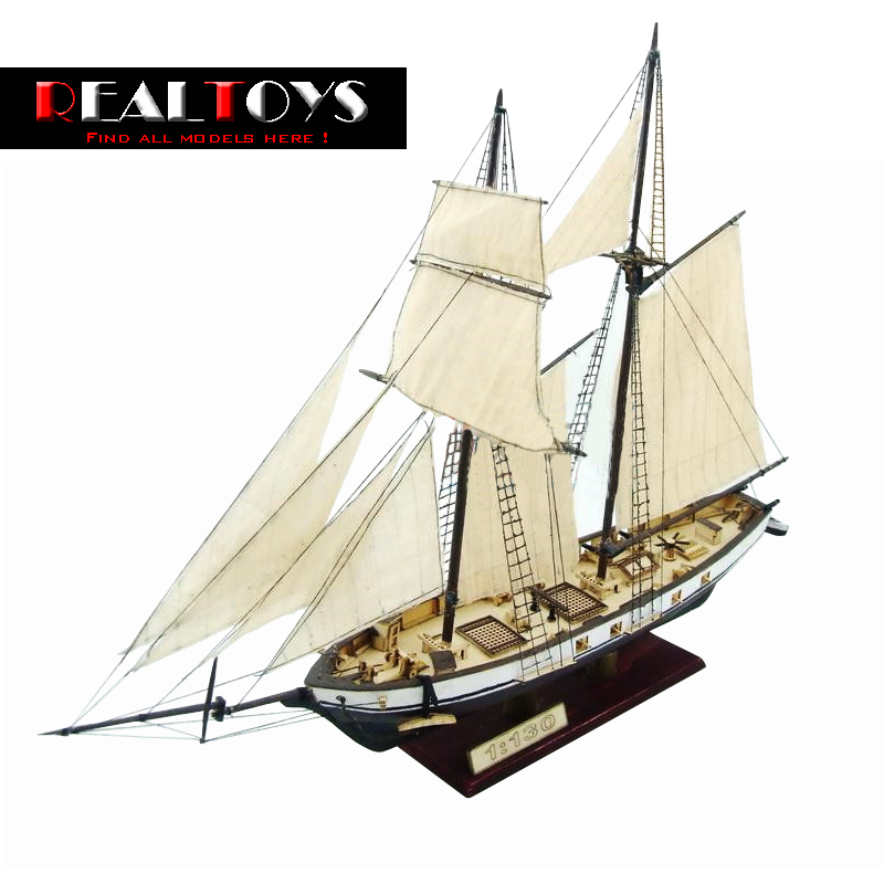 Free shipping Assembly Model kits Classical wooden sailing boat model HARVEY1847 scale wooden model