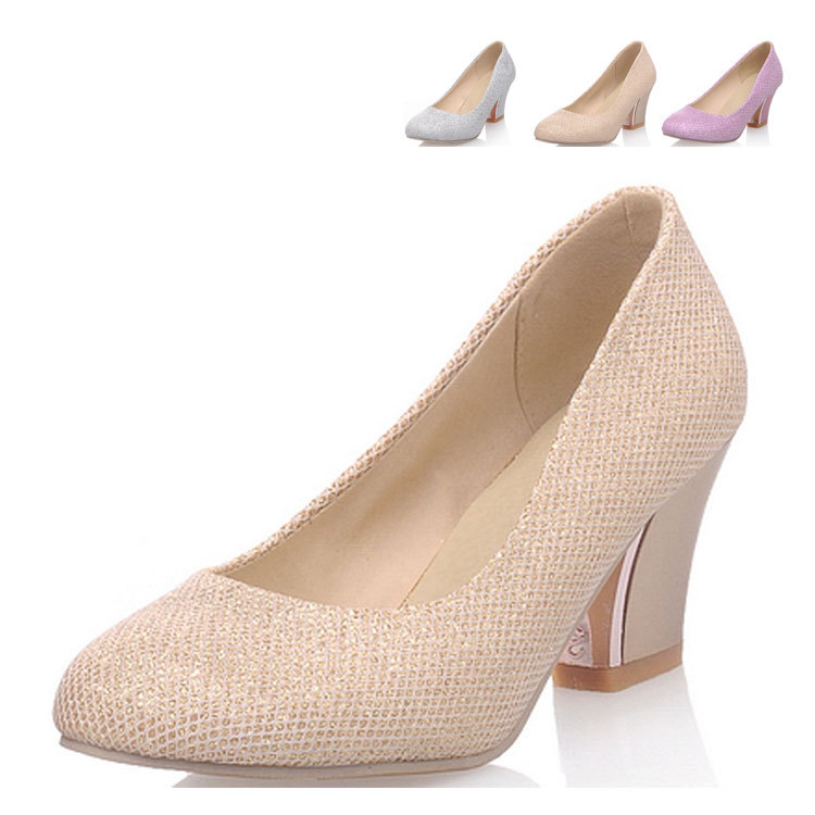 Fashion 2015 Heels 2 Inch Bridal Shoes,Size 4 Shoes Round