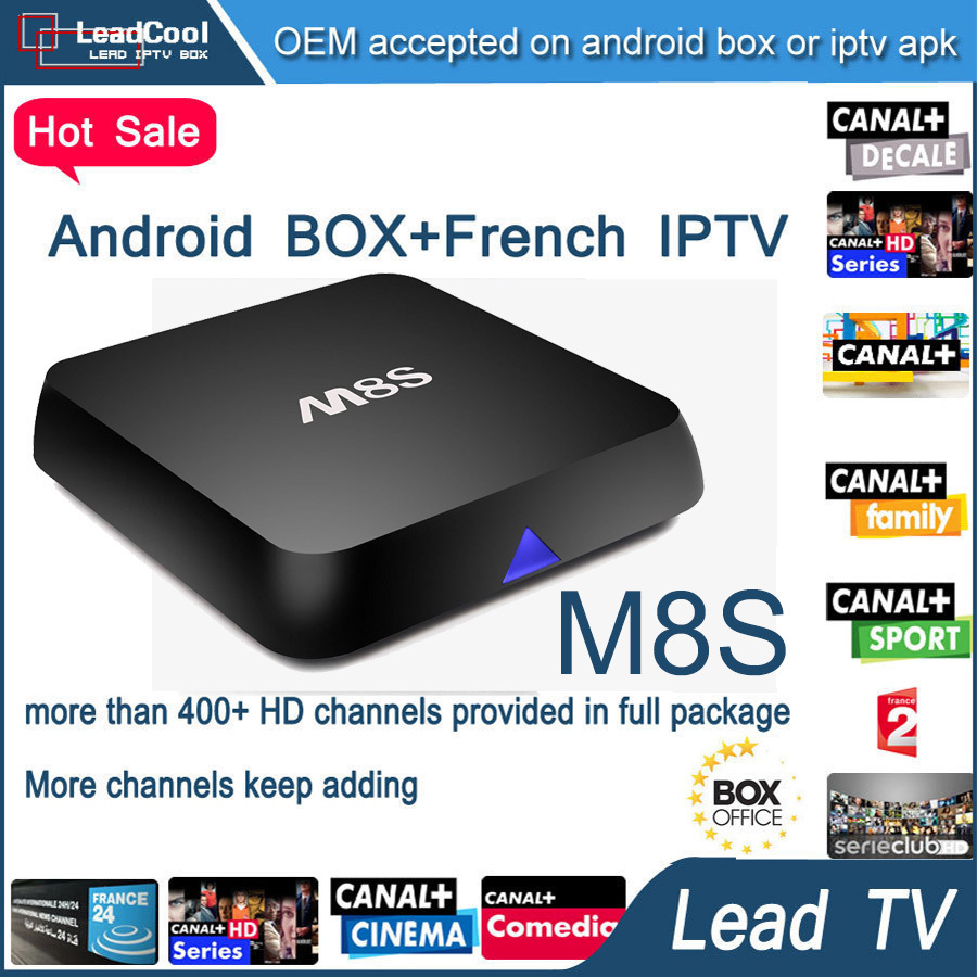 Original M8S Android TV Box 2G/8G Full HD Smart tv Media Player +3 Months  arabic iptv apk account 400 channels French turkey - drone4sky