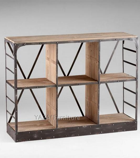 do the old wrought iron old pine wood bookcase shelf loft style retro industrial wood bookcase. Black Bedroom Furniture Sets. Home Design Ideas