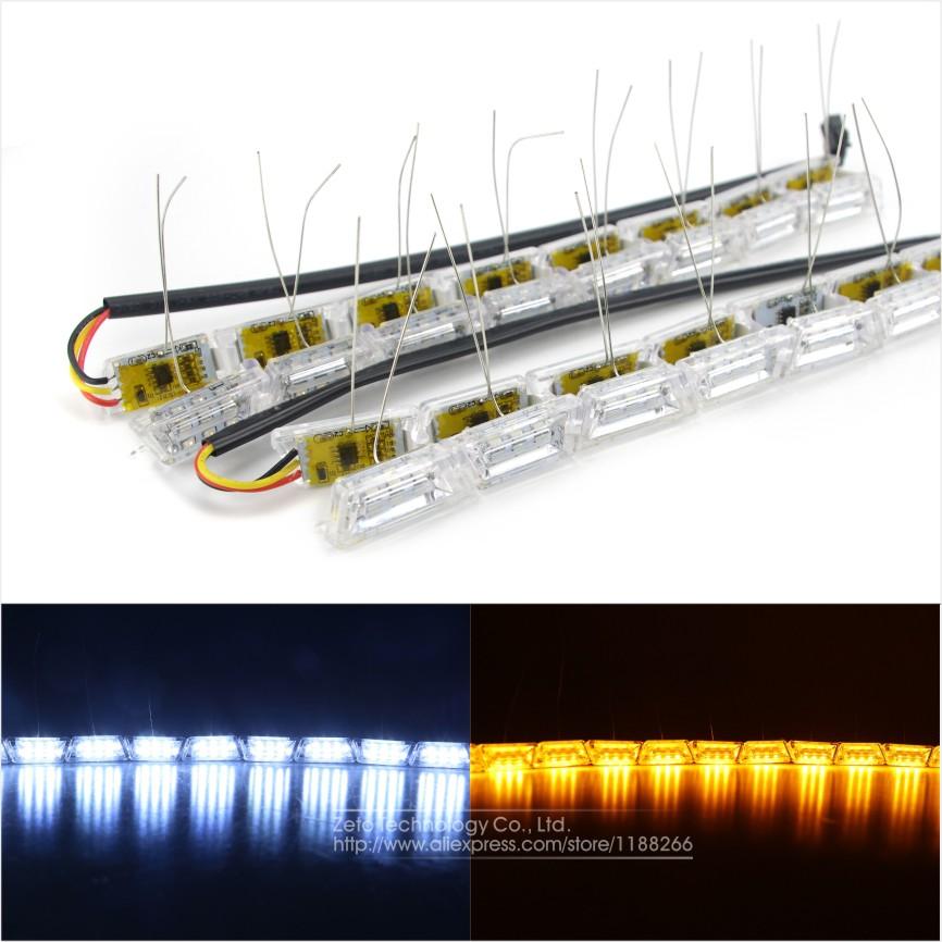 2x car flexible led strip light double color crystal flexible tube light drl daytime running. Black Bedroom Furniture Sets. Home Design Ideas