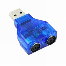 Blue USB Male to PS2 Female Cable Adapter Converter Use For Keyboard Mouse #DYUA2901