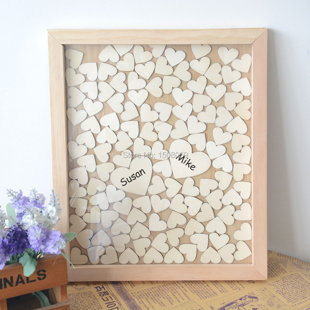 Letters Drop Box Heart Wood Guest Book Weddirect Wedding Dresses Supplies From China