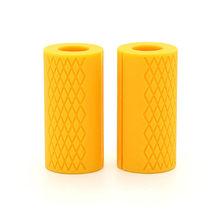 1 пара штанги для гантелей, толстая рукоятка, ручки для тяжелой атлетики, силиконовая противоскользящая защитная накладка, 3 цвета(China)