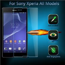 HD Ultra Thin Real Premium Tempered Glass Screen Protector Film For Sony Xperia L SP Z1 Z2 Z3 Z4 mini E3 E4 C3 C4 M2 M4 Aqua M5