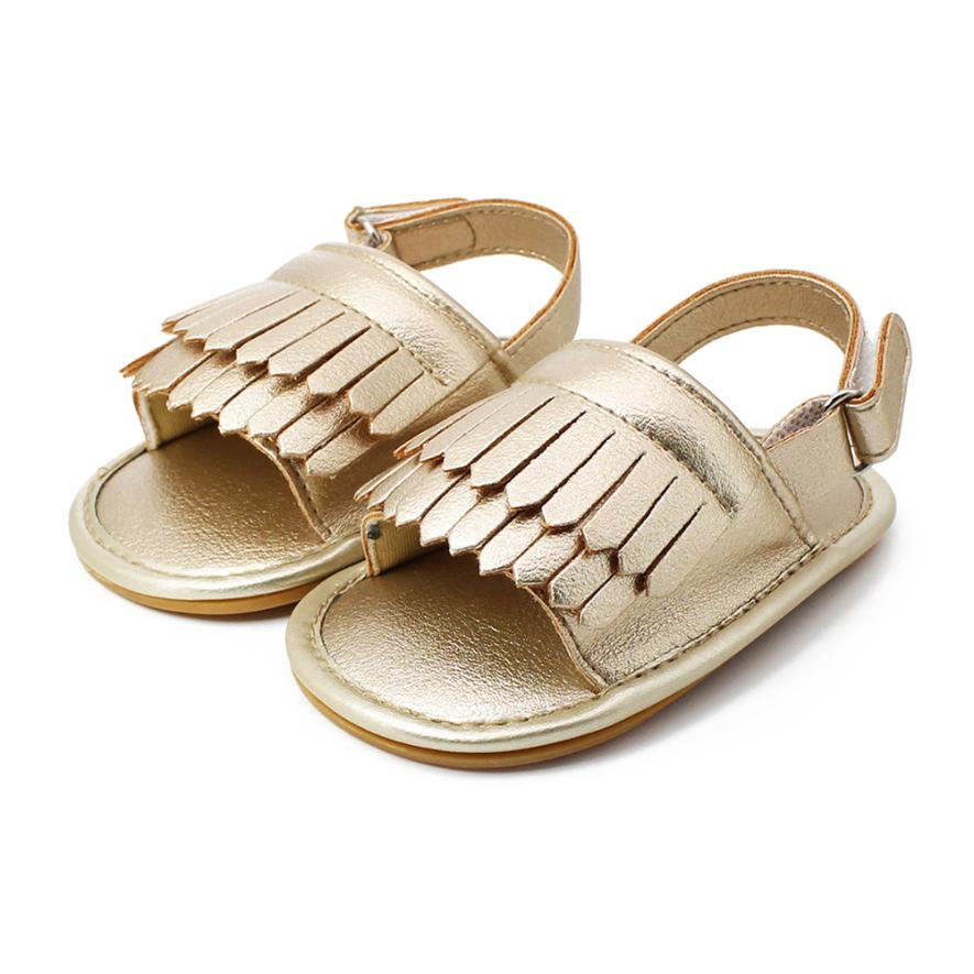 Baby Sandals Tassel Toddler Princess First Walkers Girls Kid Casual Shoes PU Leater Skirt female baby