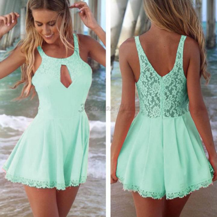bcedcb0855 Fashion Plus Size Sex Cut Out Lace Playsuit Bodycon Jumpsuits Rompers  Female Bodysuit Women Overalls Macacao Feminino LA27 Online with   21.67 Piece on ...