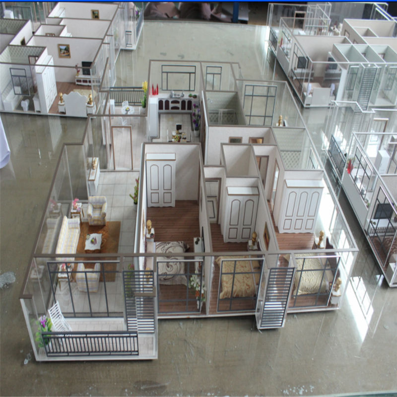 Architecture House Model With Miniature Furniture 3d Model
