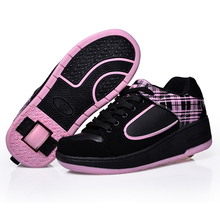 Child heelys Jazzy Junior girls boys heelys rollerskate shoes for children kids sneakers wheel shoes skate roller shoes