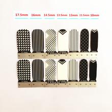 White Black Mosaics Nail Arts Nail Sticker Waterproof Nail Decal Sticker Gel Polish French Manicure Patch