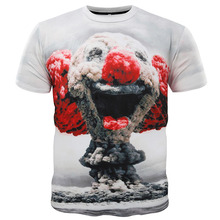 d16eb9be4d6c 3D t-shirt men cute mushroom cloud clown  cat eat pizza print 3d funny t  shirts 2016 new harajuku casual hip hop tee shirt homme