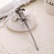 Волшебная палочка, ожерелье, брелок, Гермиона Дамблдора Волдеморт, Старшая палочка, кулон, ювелирные изделия из фильма, винтажные женские оп...(Китай)