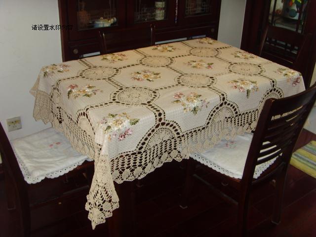 2015 livraison gratuite coton crochet nappe de dentelle avec ruban broderie fleurs dentelle. Black Bedroom Furniture Sets. Home Design Ideas