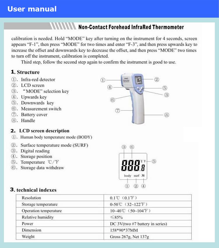 Infrared thermometer инструкция