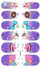 Y5203 Adhesive Nail Art Sticker Purple Zebra Design Nail Wraps Decals Manicure Glitter Decor Nail Polish