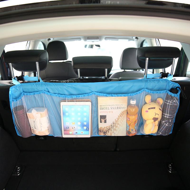 Органайзер для багажника автомобиля, регулируемая ткань Оксфорд, органайзер для хранения заднего сиденья автомобиля, внутренняя многокарм...(Китай)
