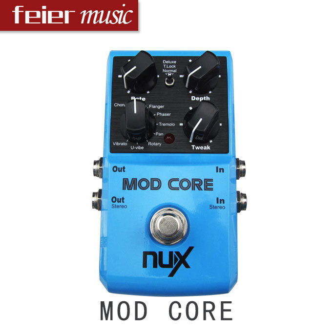 buy nux guitar pedal mod core 8 modulation effects chorus flanger tremol. Black Bedroom Furniture Sets. Home Design Ideas