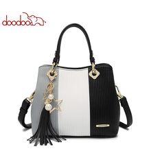 DOODOO женская сумка из искусственной кожи, сумка-тоут, женская сумка через плечо, женская сумка с ручкой сверху, Сумка с кисточками, разные цве...(Китай)