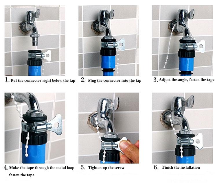 Achetez en gros jardin robinet adaptateur en ligne des - Adaptateur robinet machine a laver ...