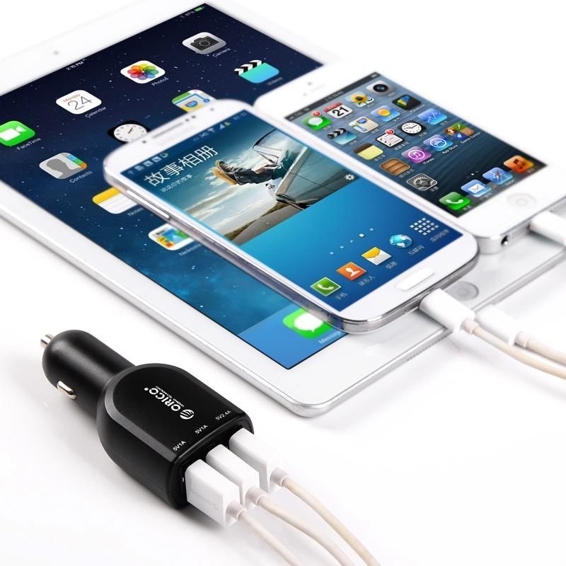 Orico UCA-3U бытовые USB автомобильное зарядное устройство прикуривателя разветвитель 12 В переменного тока в 5 В DC автомобильное зарядное устройство адаптер питания