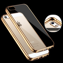 Hot Sale For iPhone 5 / 5S Case Royal Luxury style Plating Gilded TPU Phone Cover silicone soft Back  Capa Bag Accessories