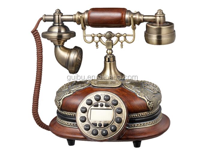 r tro bois massif t l phone antique en bois t l phone classique mod le t l phone filaire. Black Bedroom Furniture Sets. Home Design Ideas