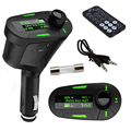 1pcs Backlight Car MP3 Player Wireless FM Transmitter With USB for Memory card MMC Card Slot