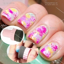 Hot New Fashion Useful Nail Art Design Stamping Polish Stamper Sponge Tool DIY Nail Buff free