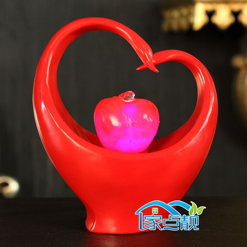 All Seasons Swan couple Decoration wedding gifts home furnishings minimalist desktops water fountain