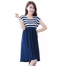 2015 Maternity dress pregnant clothing cotton clothes for pregnant women plus size ladies stripe dresses pregnancy