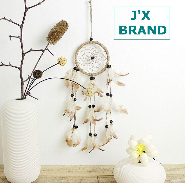 New handmade Feather Dream Catcher Dreamcatcher home decoration Indian Wind chimes pendant Household catcher dreams filter