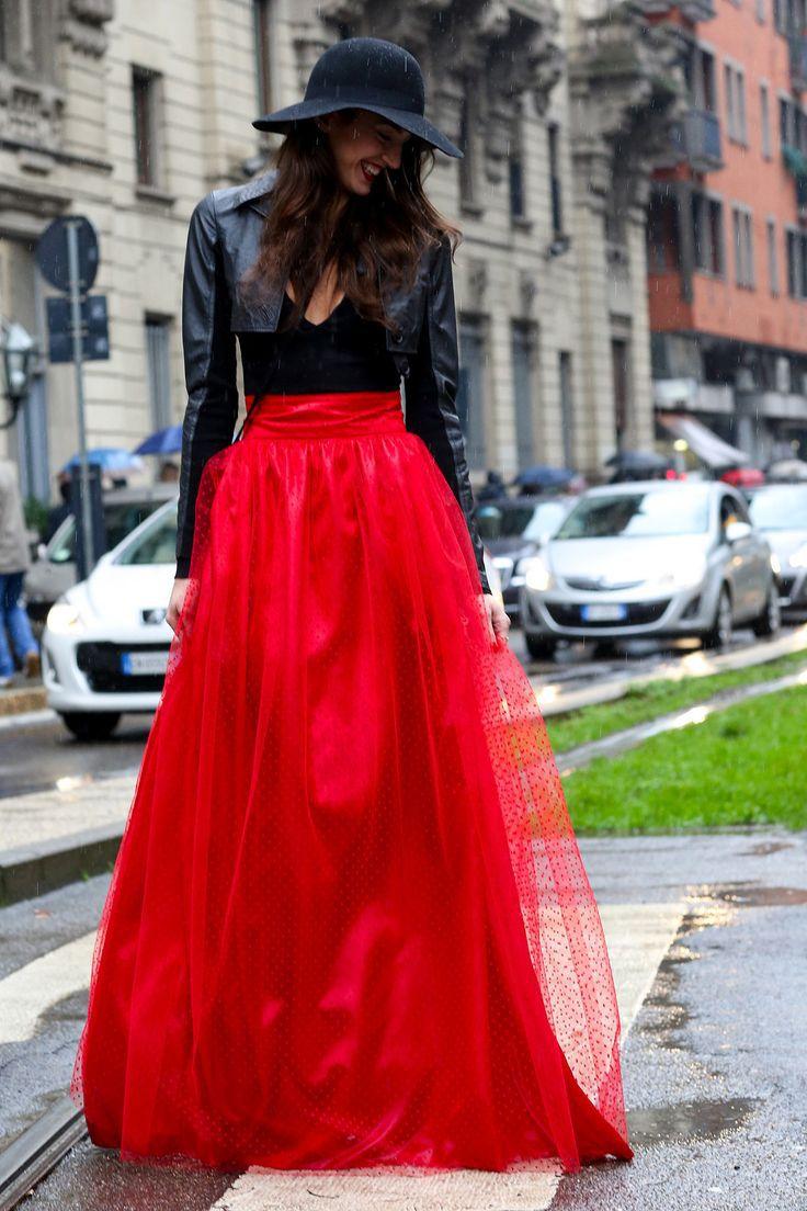 3823dc7215 Red Long Skirt - Redskirtz