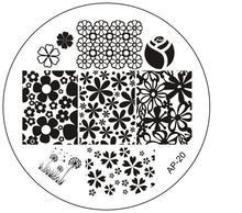 Ap-20 placas selo de imagem Stamping Nail Art DIY polonês beleza 3D Nail Art Stencils de Manicure