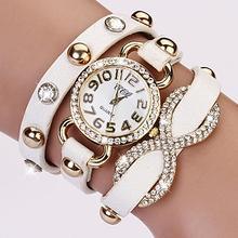 Dámské hodinky a náramek v jednom s krystaly z Aliexpress