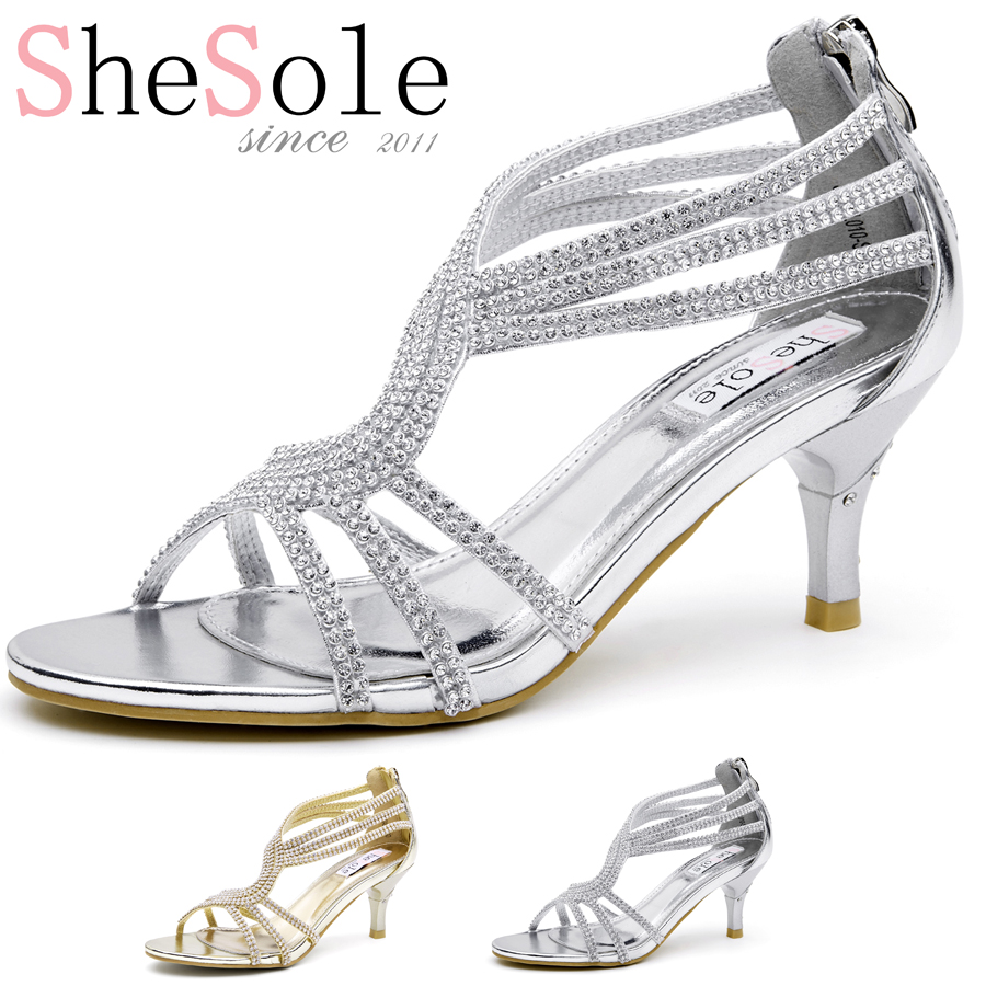 Gold And Silver High Heel Shoes