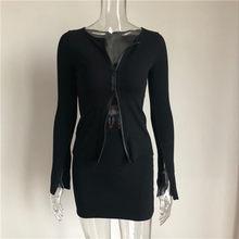 Комплект из двух предметов: топ и юбка в рубчик, осень 2020(Китай)
